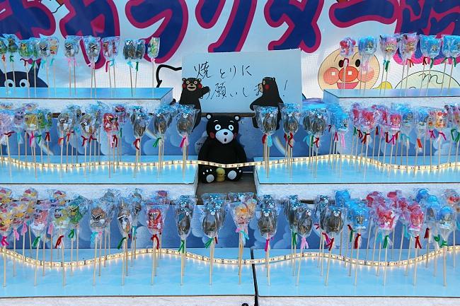 Kumamon is the famous bear mascot of Kumamoto who won the nationwide