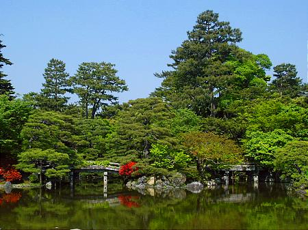 Garden at the Imperial Palace, Kyoto Japan