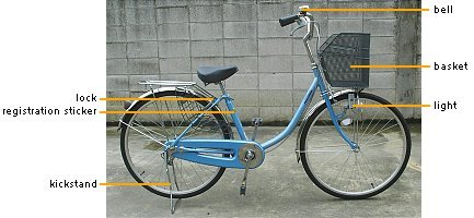 Standard Japanese shopping bicycle