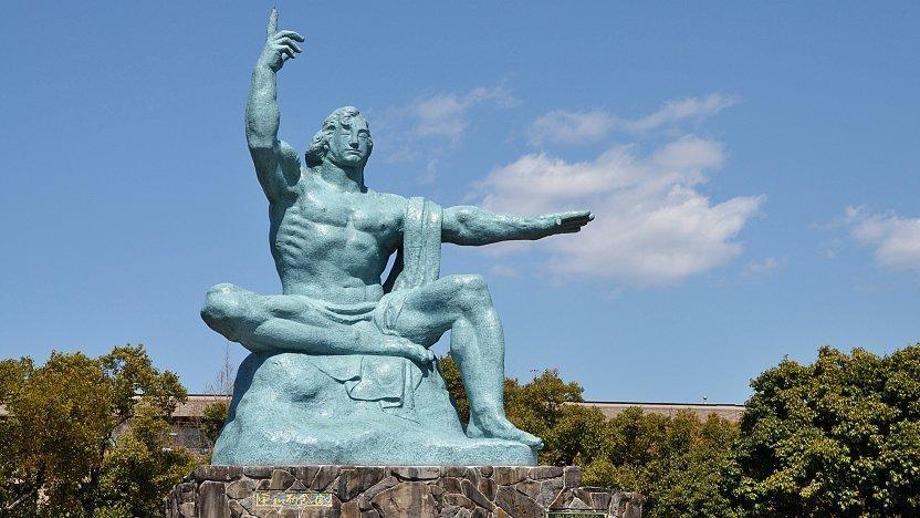 Afbeeldingsresultaat voor nagasaki statue of peace