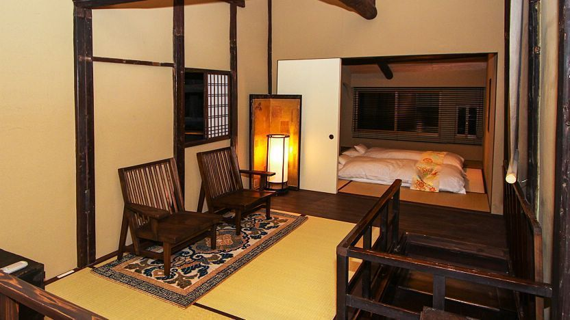 japanese apartment design luxury modern japanese living room ideas A restored traditional town house (machiya) in Kyoto