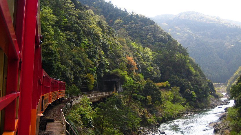 Risultati immagini per sagano scenic railway