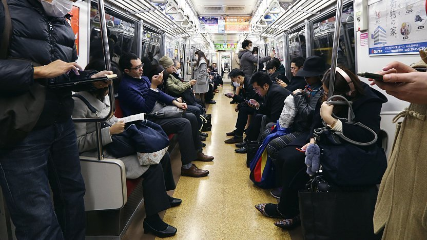Image result for call on train japan