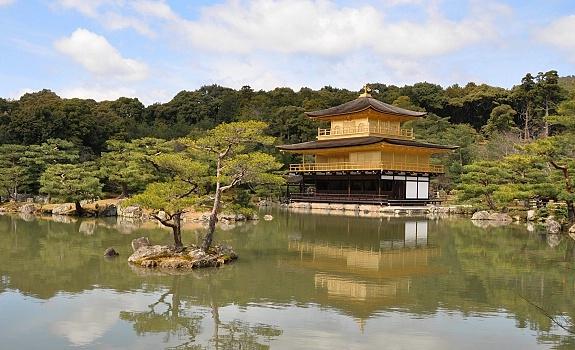 kinkuji golden pavilion kyoto jepang