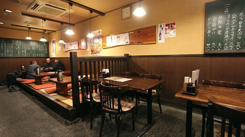 japanese restaurant with chair and floor seating