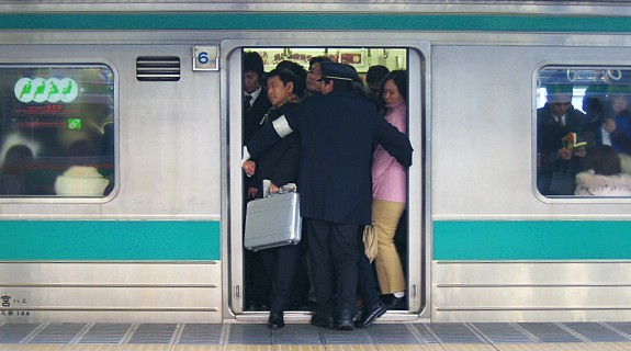 Image result for tokyo subway rush hour images