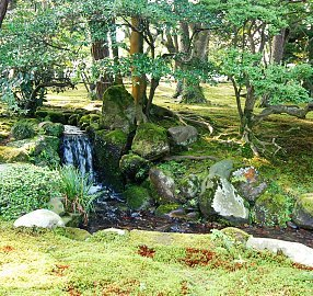 Streams Feed Larger Ponds In Motsuji Temple (left) And Kenrokuen (right)