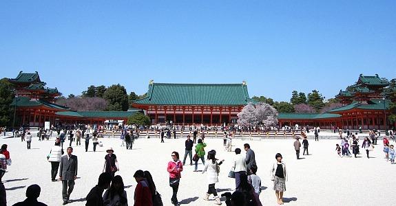 heian shrine kyoto jepang